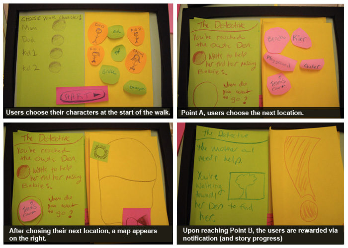 Storywalk Paper Prototype