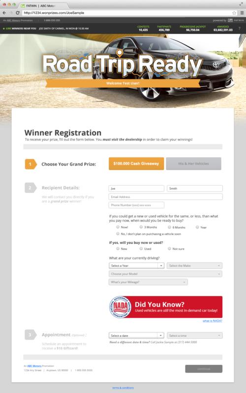 Winner Registration